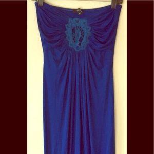 🍾 💕Sky Brand Royal Bl/Blk Maxi Dress M